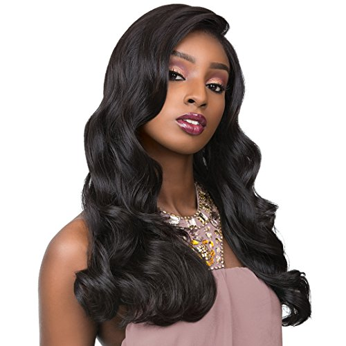 """Sensationnel Human Hair Blend Hand Tied Full Lace Wig Cloud 9 Body Wave 22"""" (1B)"""