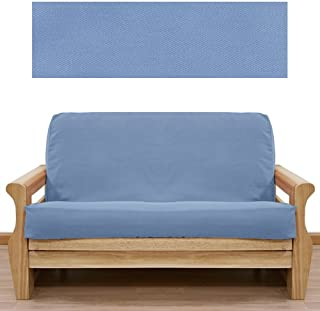 SlipcoverShop Solid Light Blue Futon Cover Full 401