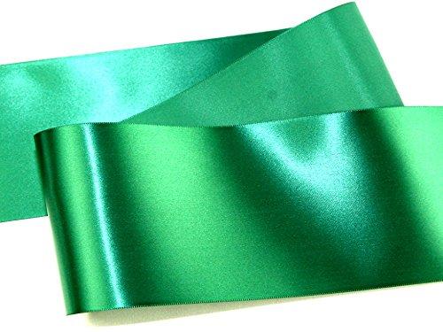 Rouleau de ruban de satin vert émeraude - 10 cm - Vendu au mètre