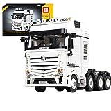 qeryuyh Bloques de construcción de Camiones de tecnología 2949 Bloques de sujeción camión de 4 Canales para Mercedes - Benz Actros 4163 Juguete de construcción Compatible con Lego Technic