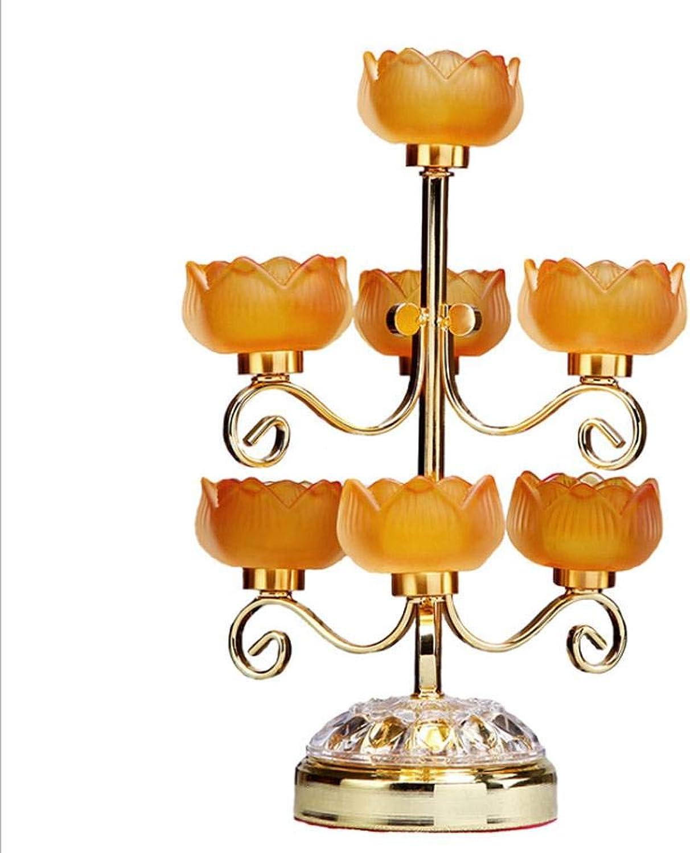 ¡No dudes! ¡Compra ahora! AIYA AIYA AIYA Aleación de la ofrenda Budista lámpara de Mantequilla de Loto  los últimos modelos
