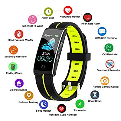 Fitness Tracker, Smart Watch with Heart Rate Bl...