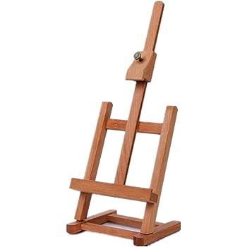 Caballete multifuncional Caja de madera integrada Caja de mesa de dibujo de arte Cuadro de pintura al óleo Maleta Caja de escritorio Suministros de arte - Burlywood: Amazon.es: Hogar