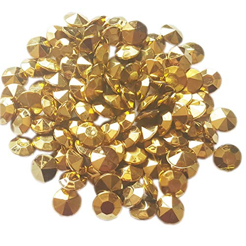 AiFanS Acrylic Gold Diamond Gems,Confetti for Table Ceterpieces or Vase Fillers (Golden,12mm,500 Piece)