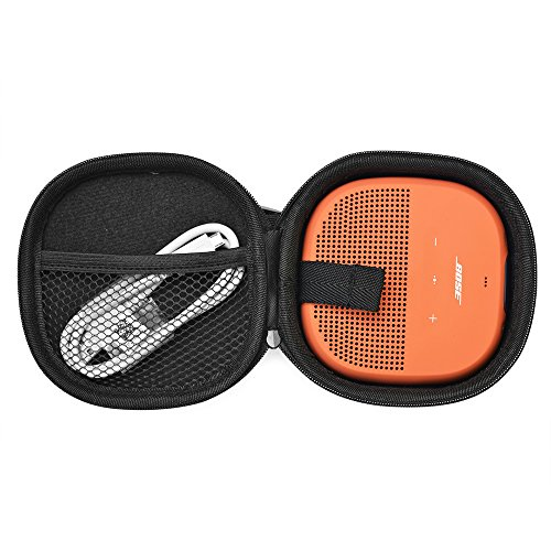 Case for Bose SoundLink Micro Bluetooth Speaker, Shape Completely Matched, with a Carabiner (Black) by Tangser
