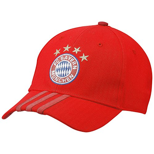 adidas Kinder Kappe FC Bayern 3S Cap, True Red/Craft Red/White, One Size