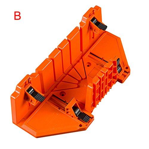 cutogain Holz Winkel Schneiden Schwert 0/22,5/45/90Grad aufspannung Mitre Box Cabinet Fall holzbearbeitungswerkzeuge, B, 350mm*100mm*65mm