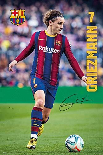 Grupo Erik Póster de fútbol FC Barcelona 2020/2021 Griezmann, 61 x 91,5 cm