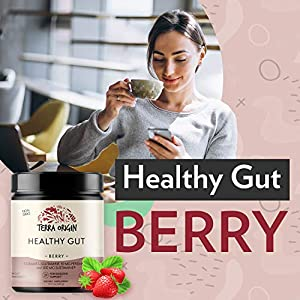 Terra Origin Healthy Gut Digestive Support Supplement, Powder, Berry, 30 Servings, Includes L-Glutamine, Herbs, Antioxidants for Leaky Gut Support, Promotes Healthy Digestion #2