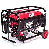 06262 Benzin Stromerzeuger 3000 mit Fahrwerk Generator Notstromaggregat fahrbar AWZ
