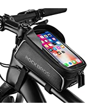 """ROCKBROS Bike Phone Front Frame Bag Bicycle Bag Waterproof Bike Phone Mount Bag Top Tube Bag Bike Phone Bag Holder Accessories Cycling Pouch Compatible with iPhone 11 XS Max XR Fit 6.5"""""""