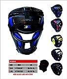 3X Professional Choice Grill Kopfschutz Maya Fell Leder Box MMA Kopfbedeckung UFC Fighting Full Face Protector Kopfbedeckung Sparring Helm -