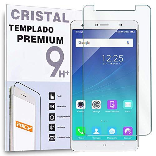 REY Protector de Pantalla para DOOGEE Y6 / Y6C, Cristal Vidrio Templado Premium