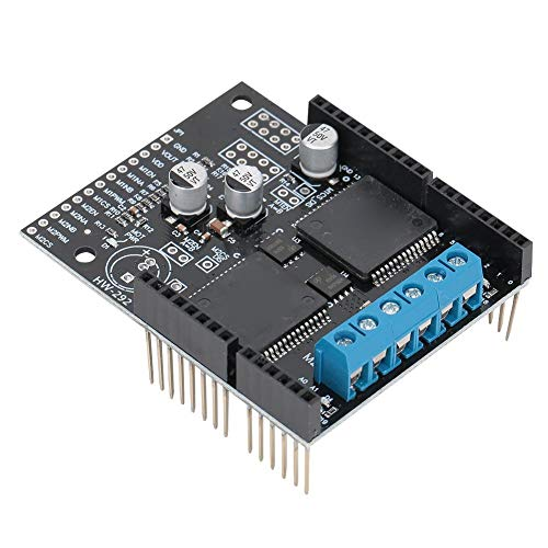 Wendry Motor Drive Module Board,VNH5019 Dual-Channel DC Motor Drive Module Board 30A High Current Self-Voltage Protection,2 bidirectional high Power DC Motors,Maximum Input Voltage 41V