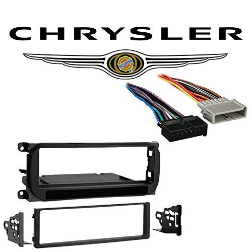 Fits Chrysler Town & Country Mini Van 2001 SDIN Car Harness Radio Dash Kit