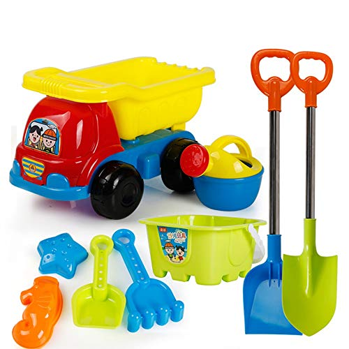 AODLK Summer Children's Beach Toy Car Set Baby Play Sand Digging Sand Shovel Tool Girl Boy Toy for Baby Best Gifts Soft Plastic Pool Toy Set for Toddlers Bucket and Spade Beach Set