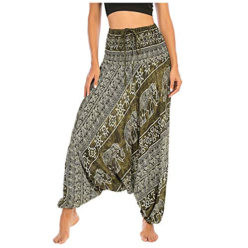 Womens Jeans, Women Men 's Hippie Boho PJs Lounge Beach Print Yoga Pants for Summer Holiday