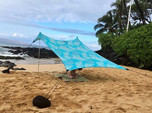 Aqua Frondes Neso grande plage tente avec sable Anchor Portable Canopy Sun Shelter