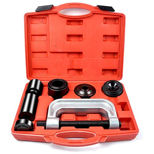 MIKKUPPA Heavy Duty Ball Joint Press 4WD & U Joint Removal Tool Kit with 4x4 Adapters, for Most 2WD and 4WD Cars and Light Trucks