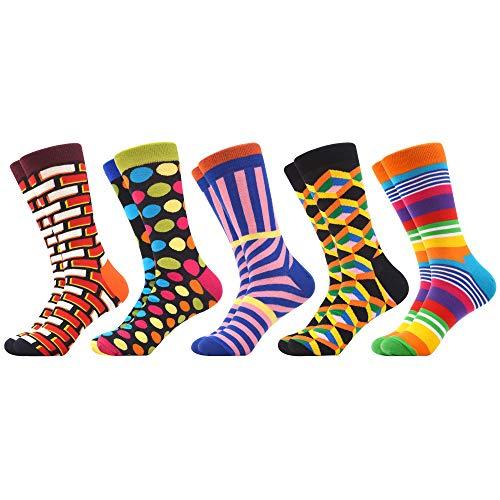 WeciBor Calcetines Hasta La Pantorrilla Para Hombre Estampados Hombres Ocasionales Calcetines Divertidos Impresos de Algodón de Pintura Famosa de Arte Calcetines de Colores de moda (ES071-62)
