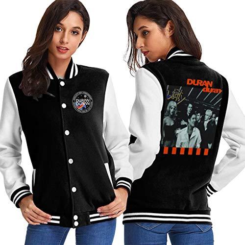 EmmanuelHarrod Duran Duran Woman's Baseball Jacket Outerwear Coats Long Sleeve Shirt S Black