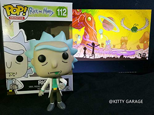 Funko 9015 and S1 No Actionfigur Morty: Rick, Dusty Blue, Standard