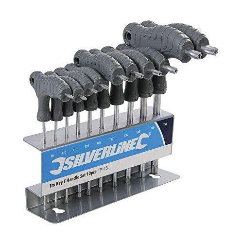 Silverline - Set di cacciaviti con manico a T, multicolore, 328015, 1V