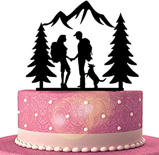 Best hiking couple wedding cake topper Reviews