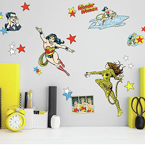 RoomMates Wonder Woman Cartoon Peel and Stick Wall Decals
