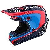Troy Lee Designs Adulto|Offroad|Motocross|SE4 Poliacrilite Corsa W/MIPS (Navy/Cyan, 2X)