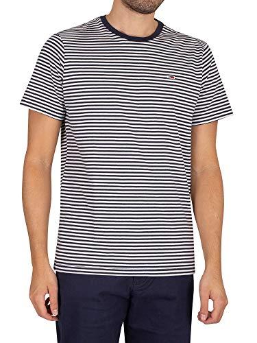 Tommy Jeans TJM Tommy Classics Stripe tee Camiseta, Crepúsculo azul marino/blanco, L para Hombre