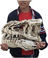 魚のタンクの装飾ティラノサウルスレックススカルモデルシミュレーションジュラシックインテリア装飾恐竜樹脂化石標本クラフト家の装飾グッズキッズギフト