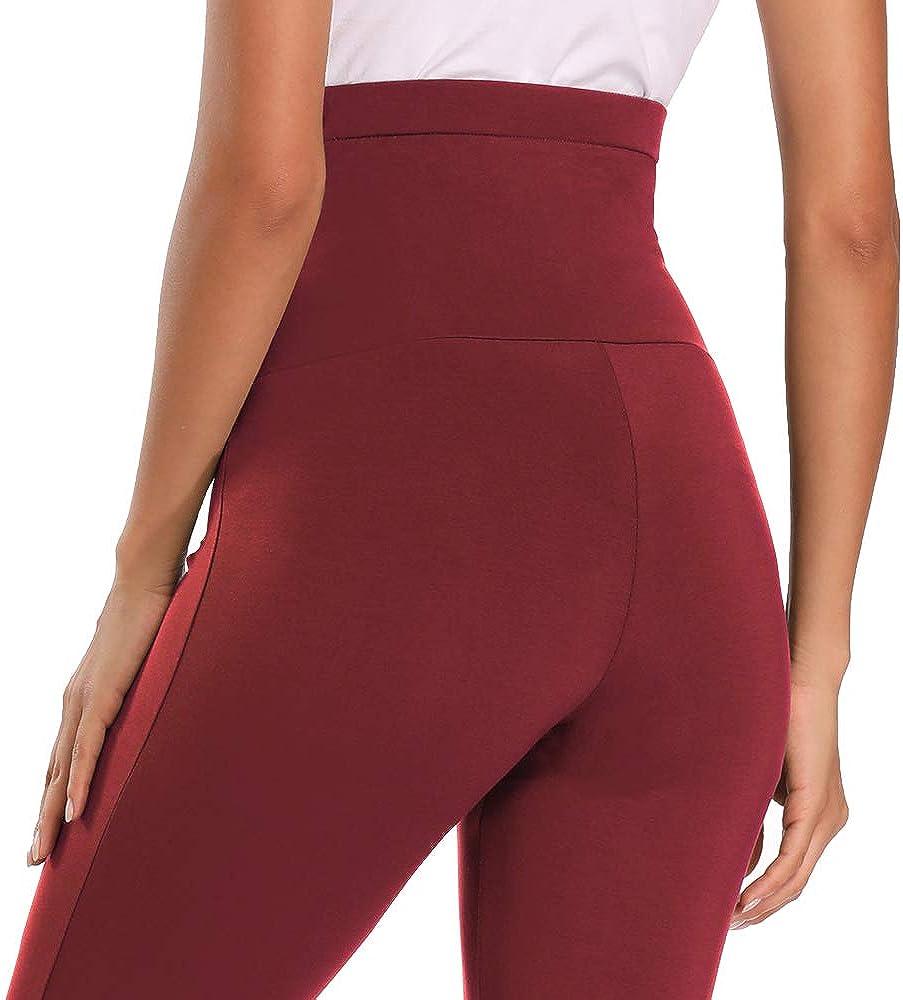 PACBREEZE Womens Maternity Capri Leggings Stretchy Lounge Yoga Pajama Sweatpants Comfy Pregnancy Pants