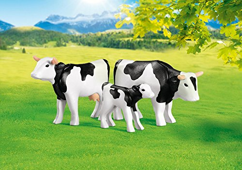 PLAYMOBIL 7892 - Rinderfamilie: Kuh, Bulle, Kälbchen (Folienverpackung)