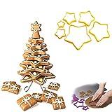 3d Christmas Cookie Cutter Baum Ausstechform Stern Lebkuchen-Plätzchen-Backen-Werkzeuge Ausstecher Erstellen Sie Ihre eigenen Baum, Einstellung 1