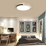 WANG-LIGHT Modern Kreative Schlafzimmer LED Deckenlampe, Energie Sparen Runde Deckenleuchte, Minimalistisch Kronleuchter für Küche Büro StudieRaum Büro,Blackwarmlight