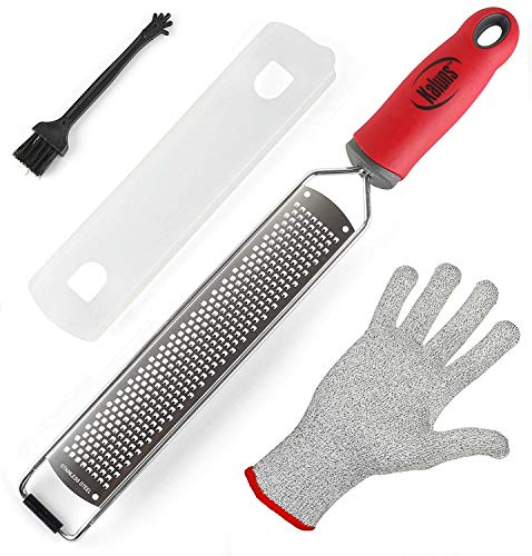 Lemon Zester and Cheese Grater, Zesters for Kitchen, Razor Sharp Stainless Steel Blade, Rust Free