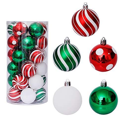 Romote Weihnachtsbaumkugeln Klassische Malerei Shatterproof Glanz Kugel Ornamente Dekoration Weihnachtskugeln Ornament...