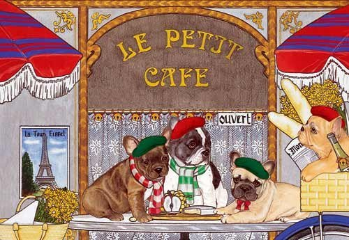 French Bulldog Christmas Cards : 10 Holiday Cards with Envelopes - Adorable!