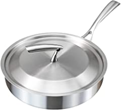 Non-Stick Frying Pan, Saucepan 304 Stainless Steel Thickening Pancake Pan Fried Steak Pot Saucepan with Lid Home use