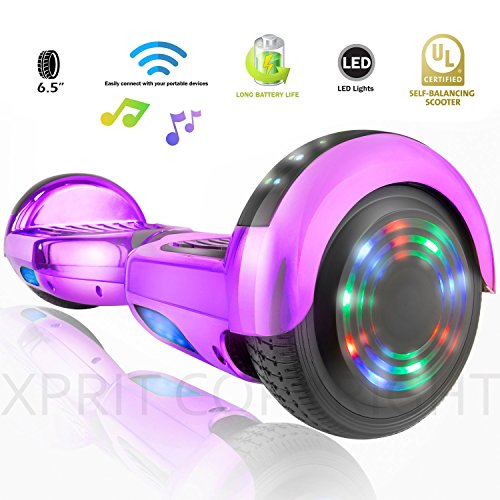 XPRIT Self Balancing Scooters/Hoverboard with Bluetooth Speaker and LED Wheel (Gold)