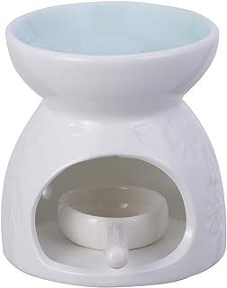 SUPVOX セラミックティーライトホルダーワックスメルトウォーマーディフューザーバーナーエッセンシャルオイルバーナーアロマセラピーディフューザークリスマステーブルデコレーション用(青)