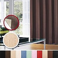 窓美人 センチュリオン 完全遮光 特殊コーティングカーテン 半間用 1枚入 幅100×丈200cm ベージュ ストライプ柄 断熱・遮熱・防音 形状記憶付
