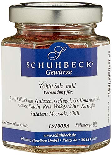 Schuhbecks Chili Salz mild, 3er Pack (3 x 90 g)