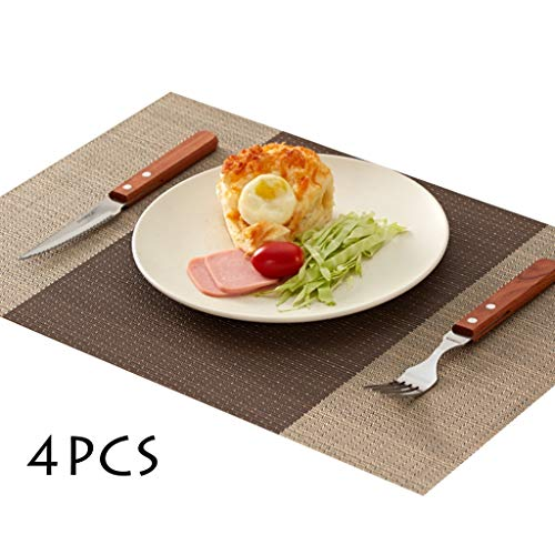 Kjz-placemats wooncultuur tafelset, water onderzetter keramische schijfkussen fruitbord mat bar tuintafel mat multicolor optioneel rechthoekige pad