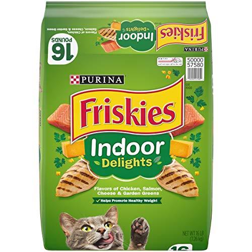 Purina Friskies Indoor Dry Cat Food, Indoor Delights - 16 lb. Bag