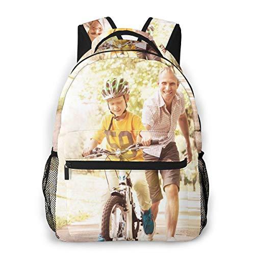 Rucksack Männer und Damen, Laptop Rucksäcke für 14 Zoll Notebook, Erste Lektionen für Kinderfahrräder Kinderrucksack Schulrucksack Daypack für Herren Frauen
