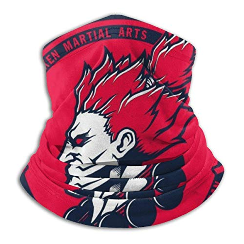 JACOBY Street Fighter Akuma Demon Dojo Warmer Schal Schlauchschal Bandana Stirnband for Men Women Sun UV Wind Dust Protection Skiing Riding Running