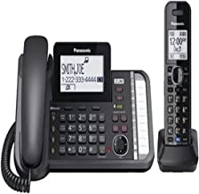 $119 » Panasonic KX-TG9581B Two Line 1.9GHz DECT 6.0 Expandable Up to 12 Handsets Digital Answering System Corded/Cordless Phone ...