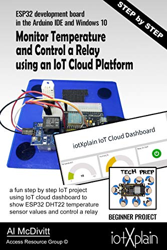 ESP32 Monitor Temperature and Control a relay using an IoT Cloud Platform (English Edition)